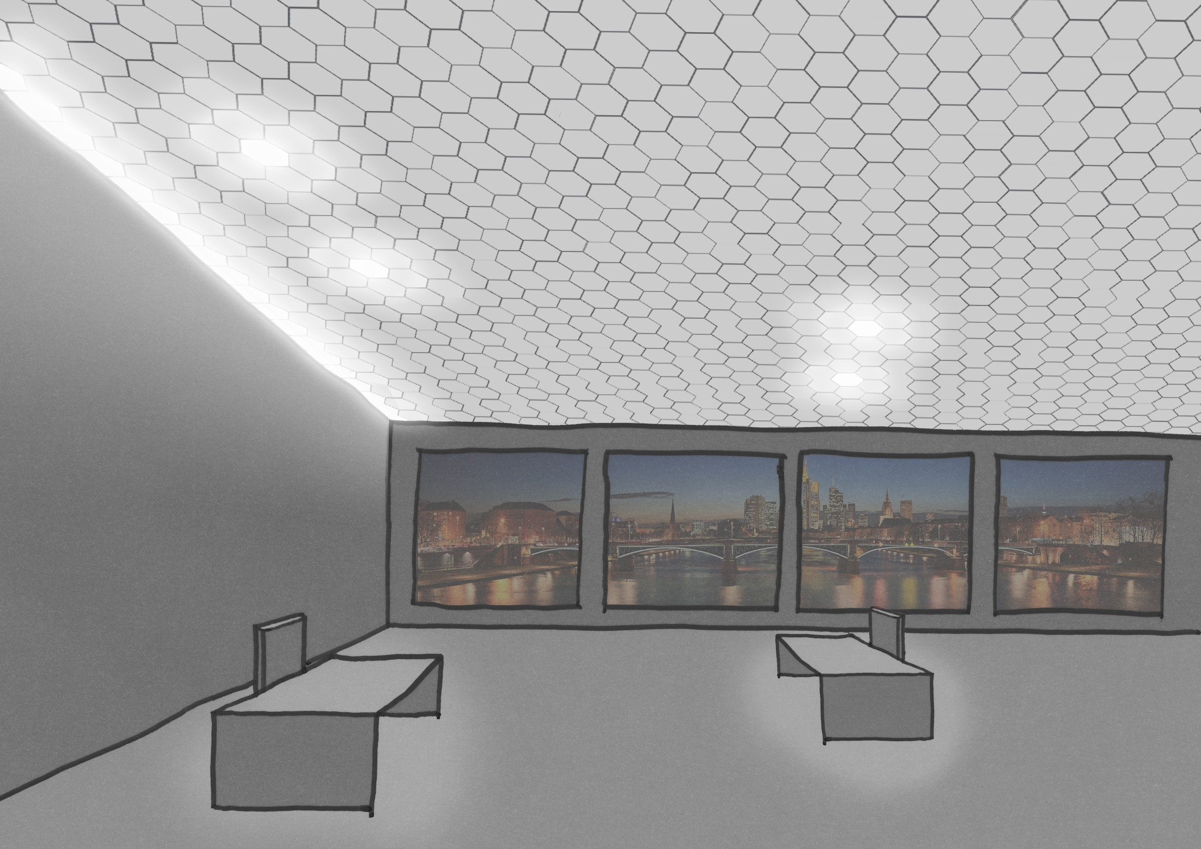 Luminous ceilings hochschule wismar fakultät gestaltung
